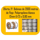 Bobinas De 2000 Metros De Fleje Plastico De 1/2