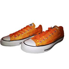 zapatillas tipo converse naranja