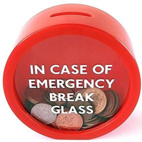 Alcancia De Emergencias Rompase El Cristal Color Rojo H8017