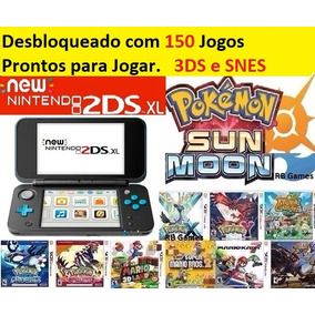 New Nintendo 2ds Xl + 150 Jogos + 32gb Pokemon Roda New 3ds