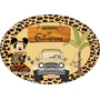 Placa Mickey Safari Personalizada Painel 40x27cm Mdf