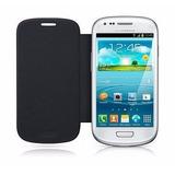 Case Capinha Capa Flip Cover Preto P/ Samsung Galaxy S3 Mini