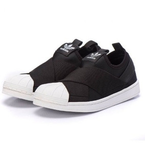 59fd6a0fcd7 Tênis adidas Superstar Slip On Preto 100% Original Pt1