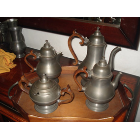 Conjunto De Chá Em Estanho