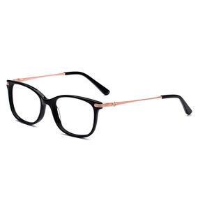 24c48e170e235 Armação Oculos Grau Acetato metal Preto Importado Ref21 - Óculos no ...