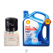 Kit Filtro Aceite Vw Gol Trend + Aceite Shell Helix 10w40 4l