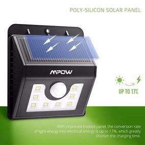 Lámpara Solar Con 8 Led Y Sensor De Movimiento