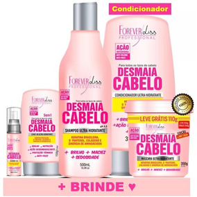 Kit Completo Desmaia Cabelo Masc350+shamp+cond+leave+sérum