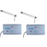 2 Ap-50 Amplificador De Potencia Catv Aquário 50db+2 Antenas