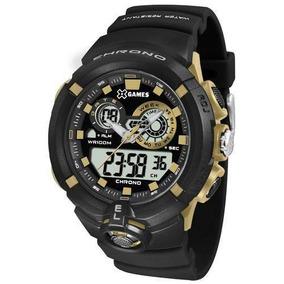 Relógio Masculino X-games Xmppa240-bxpx 47mm Borracha Preta