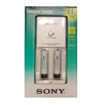 Cargador De Pilas Sony Con 2 Pilas Aaa 900 Mah + Rendimiento