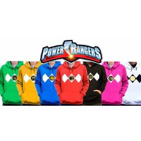 Kit 7 Moletom Power Rangers Uniforme Blusa De Frio Nostalgia