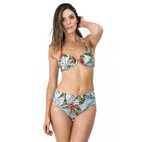 Bikini Recogido Estampado Tropical Exótico