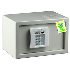 Cofre Eletrônico Sps10 Led 18 X 28 X 20 Cm - Safeplus
