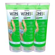Womax Gel Lipo 3 Frascos Promoção Original Vicaz Garantia
