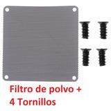 Filtro De Polvo Pc 80mm Pvc + 4 Tornillos Para Gabinete