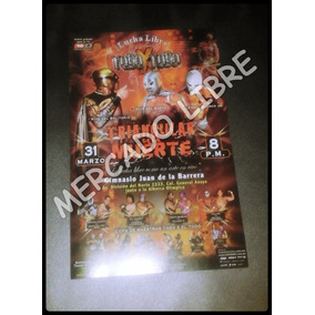 Cartel Lucha Libre Original Mascara Vs Mascar Santo-angel B.