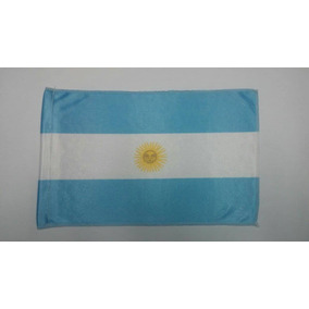 100 Banderas Argentina Banderita De Tela Acetato Con Costura