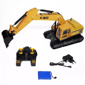 Brinquedos:trator Escavadeira Controle Remoto Pronta Entrega