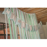Banderines Decoracion Bautismo Candy Bar Baby Shower