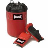 Kit Boxe Infantil Knockout Luva E Saco De Pancada