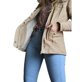 Campera Parka Corderito Mujer Abrigo Invierno 2017 Moda Chic