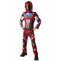 Disfraz Power Ranger Movie Rojo 4/6 Años Entrega Inmediata