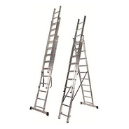 Escalera Extensible Aluminio Tijera 3x11 8m Kulbart Eg