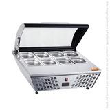 Base Refrigerada Sobre Mostrador 8 Insertos Nr-rtw-67l Migsa