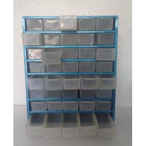 Organizador Metálico Multiusos,40 Gavetas Transparentes E13