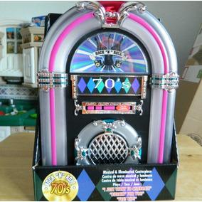 Mini Rockola Nostalgia Luz Sonido Toca 3 Melodias