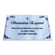 Placa Recordatoria Para Cementerio, 20x15cm Personalizada.