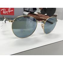 Oculos Ray Ban Rb3447 N Round Metal 001/30 50 Lente Reta
