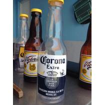 Serveza Corona Botella Plastico Gigante Con Corcholata Coll