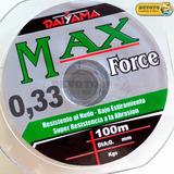 Nylon Tanza Daiyama Max Force 0,33 Mm 11 Kg 100 Metros