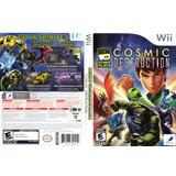 Jogo Wii Ben 10 Cosmic Destruction - Mídia Física Novo