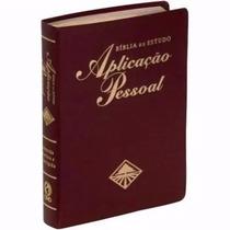Biblia De Estudo Aplicação Pessoal Luxo Média Com Indice