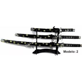 Kit 3 Espadas Samurai + Suporte Grátis, Frete Grátis
