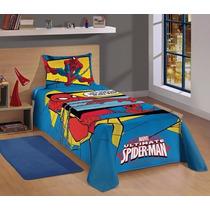 Jogo De Cama Lencol Homem Aranha Spider Man Infantil