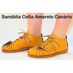 Sandália Celta Couro Peregrino Tradicional Kalonita