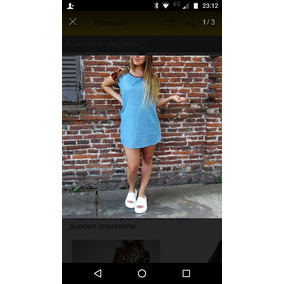 75be810c7f Vestido Camisero Azul Marino T M - Vestidos de Mujer en Mercado ...