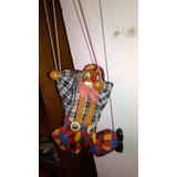 Marionete Antiga Fantoche Palhaço Circo Teatro Infantil Buff