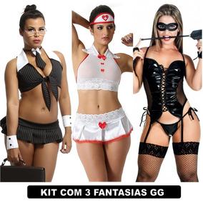 Plus Size Espartilho Sexys Moda Intima Kit Com 3 Uni Gg