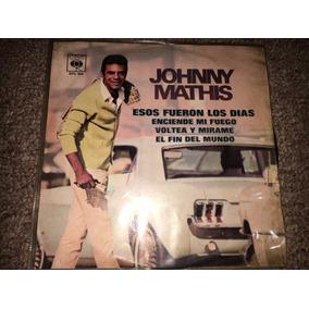 Disco Acetato 45 Rpm: Johnny Mathis - Voltea Y Mirame