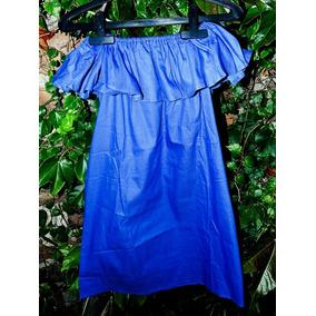 Vestido Strapless Simil Jean Importado