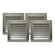 Kit 4 Grades De Ventilação Alumínio Itc 20x20cm