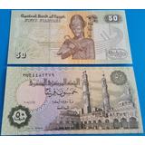 Billetes Mundiales Egipto 50 Piastras 2008 Nuevo