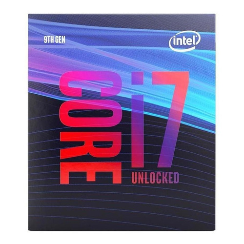 Processador gamer Intel Core i7-9700K BX80684I79700K de 8 núcleos e 3.6GHz de frequência com gráfica integrada