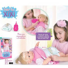 Boneca Baby Faz Xixi Com Mamadeira E Fraldinha Super Toys