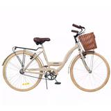 Bicicleta De Paseo Vintage Rodado 26 Canasto Baby Shopping
